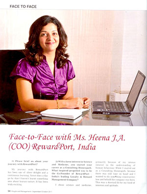 Face to face with Ms.Heena.J.A