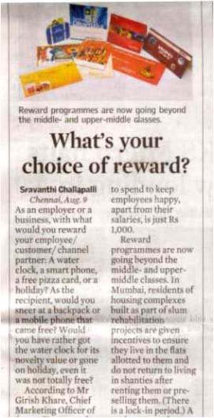 What's your choice of reward?
