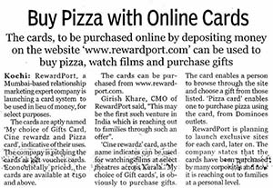 Buy pizza with online cards