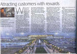 Attracting customers with rewards